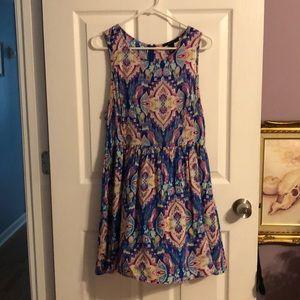 Forever 21 print dress size L  👗